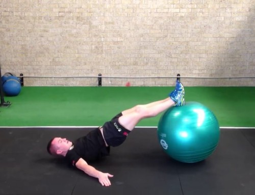 * Fit ball Hamstring curls